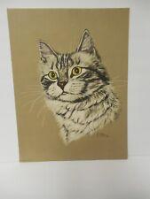 "Vintage Gladys Emerson Cook California Spangled Cat Penn Print 12"" X 16"""
