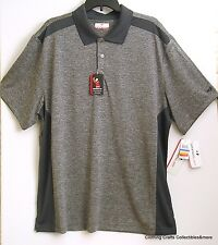 Grand Slam Golf Polo Shirt Mens XL Black Gray Performance Stay Dry SS NWT