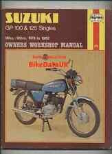 Suzuki GP100 GP125 (1978-1982) Haynes Work Shop Manual Repair Book GP 100 125 U