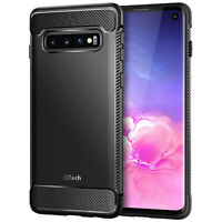 JETech Case for Samxung Galaxy S10 6.1-Inch Shock-Absorption Carbon Fiber Cover