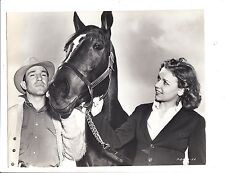 George Woolf, Jockey, & Heelfly (2 publicity stills from 1938)