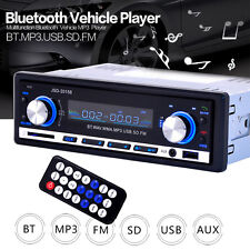 Car Stereo Player Bluetooth SD USB MP3 FM Radio In Dash Receiver 1Din Audio AUX