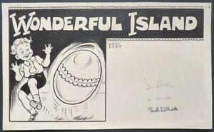 Dessin original anglais Paru dans PLAYBOX en 1947 WONDERFUL ISLAND Walden