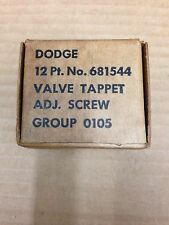 Dodge, WC, M37 230 CI Flathead, Tappet Screw Set, G-502, G-741