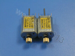 2pcs For MITSUMI DC12V 13500RPM Biaxial Carbon Brush DC Motor with Metal Gear