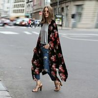 Women Ladies Loose Blouse Summer Popular Chiffon Coat Shawl Kimono Cardigan Top