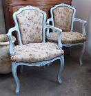 Paire de fauteuils style Louis XV laqué gris @+
