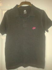 Nike Patternless Y Neck Casual Shirts & Tops for Men