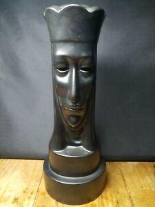 "Vintage 1947 PETER GANINE Gothic Large 12.5""  Chess Piece Ceramic Brayton Laguna"