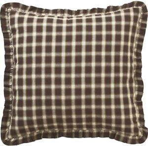VHC Brands Rustic & Lodge Farmhouse Rory Brown Fabric Euro Sham 26x26 NWT