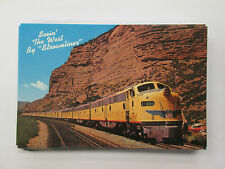 Union Pacific Railroad Seeing the West Emd Streamliner Train Postcard