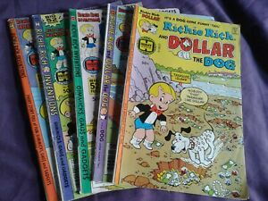 Richie Rich Harvey Comic Lot Of 5 Dollar Dog,  Inventions