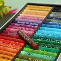 50 Color Waterproof Oil Pastels Box Set Inscribe Artist Drawing Assorted Colours