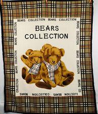 Boyds Bears Collection Soft Fleece Throw Blanket Plaid Pattern Trim 56 x 70