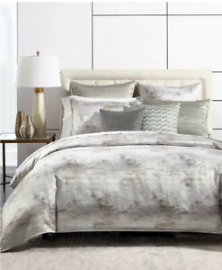 Hotel Collection Iridescence Cotton King Duvet Cover Grey $500
