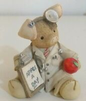 "This little Piggy TLP ""An Apple a Day Keeps the Doctor Away"" Collectable Enesco"