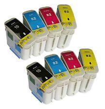 8 x Patronen für HP DesignJet 500ps 800ps 815 / 10 + 82 C4844AE C4911A -C4913A