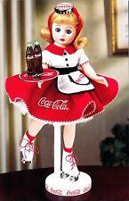 "Coca Cola Car Hop 13"" Porcelain Doll By Madame Alexander -1998 Danbury Mint -NIB"
