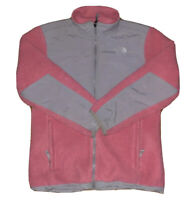 The North Face Girl's Pink And Grey Denali Full Zip Fleece Jacket Size XL