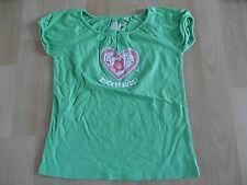 ADELHEID schönes Shirt grün Zuckersüss! Gr. 116/122 TOP (KJ814)