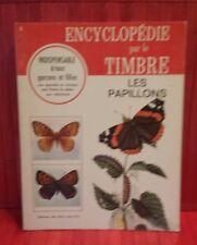 vintage 1967 Encyclopédie par le Timbre.  # 5 . les Papillons . sticker book