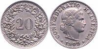 Münze 20 Rappen Schweizer Franken 1978