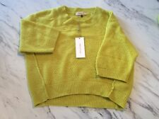 Rebecca Taylor Size Medium Ladies Chartreuse Sweater New NWT Cashmere