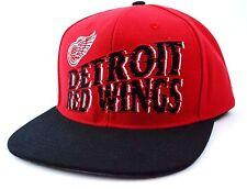 Detroit Red Wings CCM NS29Z NHL Team Logo Snapback Hockey Cap Hat  OSFM