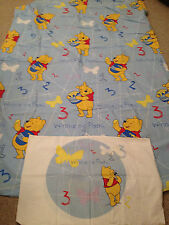 Winnie The Pooh Counting 1 2 3   Themed Duvet & Pillow Case Single Size (M4)