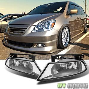 For 2005-2007 Honda Odyssey Bumper Driving Fog Lights w/Switch+Bulb Left+Right