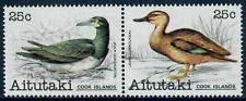 Aitutaki #235-236 Birds/ Brown Booby, Black Duck in Setenant Pair MNH