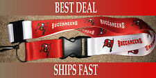 NEW NFL Two Tone Reversible Keychain Lanyard- Tampa Bay Buccaneers SHIPS FREE