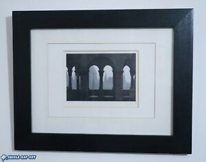 PHOTOGRAPH CATHEDRAL FRAMED BLACK WHITE PICTURE ORIGINAL SIGNED PRINT