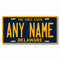 US Metal License Plate - Delaware - Customise your own plate