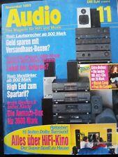 AUDIO 11/93,AKAI CD 69,PIONEER PD S 802,602,SONY CDP X 202 ES,YAMAHA CDX 570