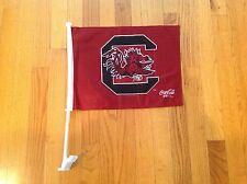 Usc ( Gamecocks ) Double Sided Car Flag With Flagpole, Coca Cola