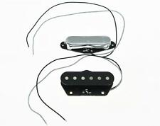 Set of 2 Neck & Bridge Standard Sound Tele Pickup Telecaster Pickups Chrome