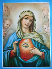 """Catholic Print Picture IMMACULATE HEART OF MARY Angels by Morgari 20x28"""" poster"""