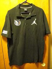 MICHAEL JORDAN 23 Jumpman ~ XL ~  Charlotte Bobcats Black 3 Button Polo Shirt
