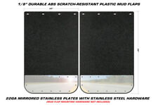 Set of 2 Chrome Studded Plate Mud Flaps Semi Trailer 24x36 Dump Truck Universal
