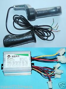 500W 36V DC Motor Brushed Speed Controller+Throttle Twist Grip for scooter Razor