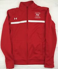 Under Armour Loose Red & White Zip Up Jacket All Season Gear P&G Embroidered S