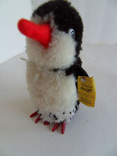 Steiff bird penguin wool button flag  Germany 2264