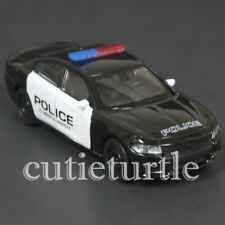 "4.75"" Welly 2016 Dodge Charger R/T Police Car Diecast Toy 43742P-D Black White"