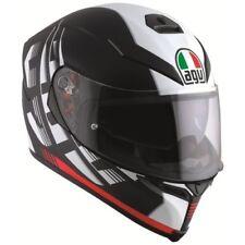 AGV K5 S Darkstorm Motorcycle Full Face Helmet Matte Black Red L