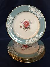 Spode OLD COLONY ROSE Y6447 Dinner Plates -  England Bone China ~ Set of 6