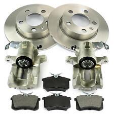 2x Bremssattel + Bremsscheiben + Bremsbeläge hinten Audi A3 Seat Cordoba VW Polo