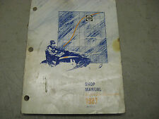 Skidoo Bombardier snowmobile OEM service manual 1987
