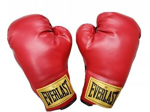 Pair of Everlast Gold Label Boxing Gloves Red 12oz.  Brand New!