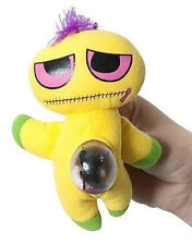 Yellow Zany Zippy Squeezy Stuffed Monster Doll